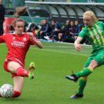 ADO Den Haag vrouwen houdt landskampioen FC Twente op gelijkspel. Video Interviews met Romy Speelman en Jaimy Ravensbergen